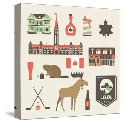 Canada Icons-vector pro-Stretched Canvas Print