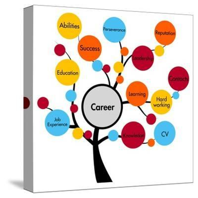 Career Tree-ronstik-Stretched Canvas Print