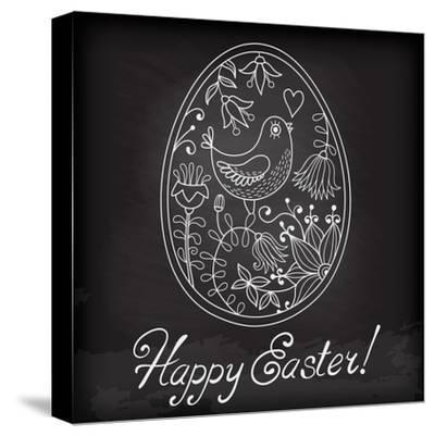 Easter Egg Drawn by Hand-Baksiabat-Stretched Canvas Print