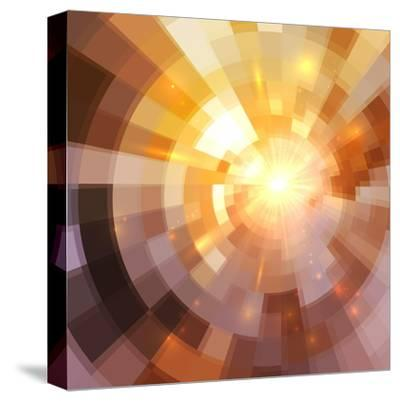 Abstract Shining Mosaic Background-art_of_sun-Stretched Canvas Print