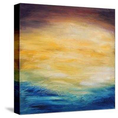 Beautiful Abstract Textured Background of Evening Sunset Sky over the Ocean-Acik-Stretched Canvas Print