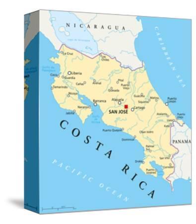 Costa Rica Political Map Art Print By Peter Hermes Furian Art Com