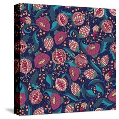 Pomegranate Pattern-Jallom-Stretched Canvas Print