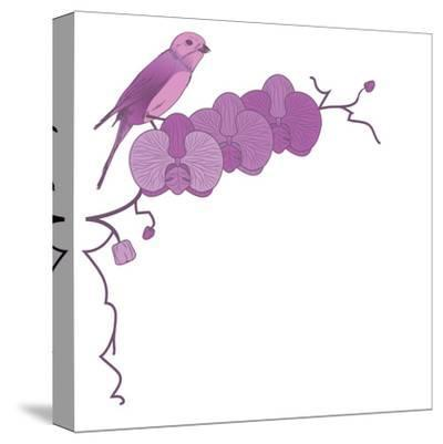 Orchid and Bird-tanais-Stretched Canvas Print