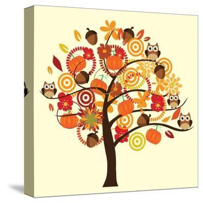 Fall Tree-relato-Stretched Canvas Print