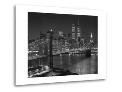 Top View Brooklyn Bridge - New York City Icons-Henri Silberman-Metal Print