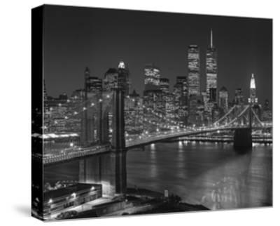 Top View Brooklyn Bridge - New York City Icons-Henri Silberman-Stretched Canvas Print