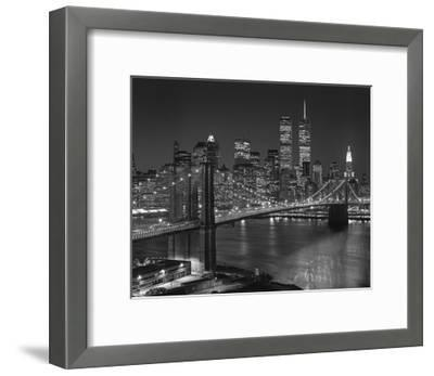 Top View Brooklyn Bridge - New York City Icons-Henri Silberman-Framed Premium Photographic Print