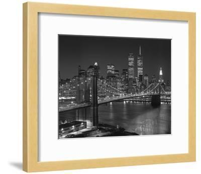 Top View Brooklyn Bridge - New York City Icons-Henri Silberman-Framed Photographic Print