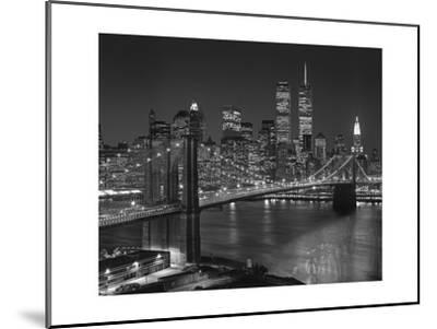 Top View Brooklyn Bridge - New York City Icons-Henri Silberman-Mounted Photographic Print