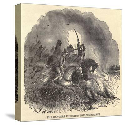 Texas Rangers Pursuing Comanches in 1850s--Stretched Canvas Print