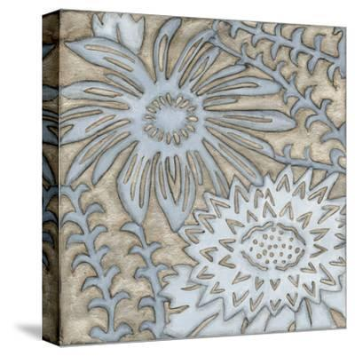 Silver Filigree III-Megan Meagher-Stretched Canvas Print