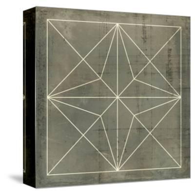 Geometric Blueprint I--Stretched Canvas Print