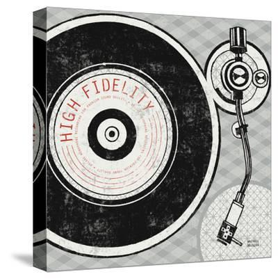 Vintage Analog Record Player-Michael Mullan-Stretched Canvas Print
