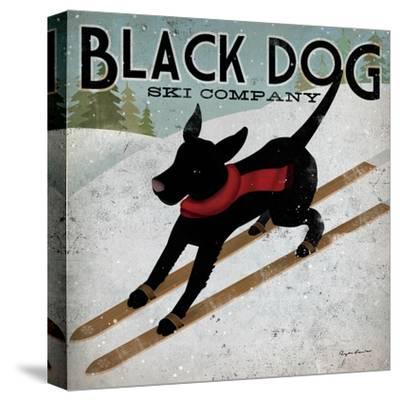 Black Dog Ski-Ryan Fowler-Stretched Canvas Print