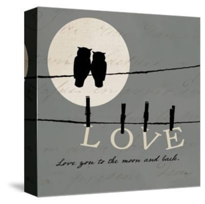 Moon Lovers I-Pela Design-Stretched Canvas Print