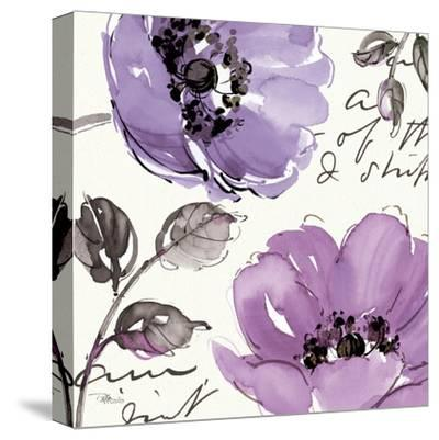 Floral Waltz Plum II-Jess Aiken-Stretched Canvas Print