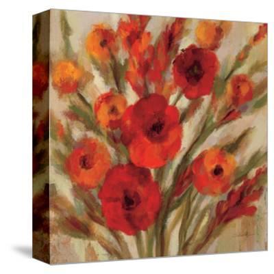 Crimson Blooms II Crop--Stretched Canvas Print