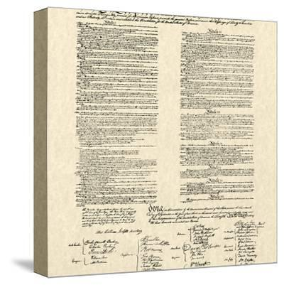Constitution Document--Stretched Canvas Print