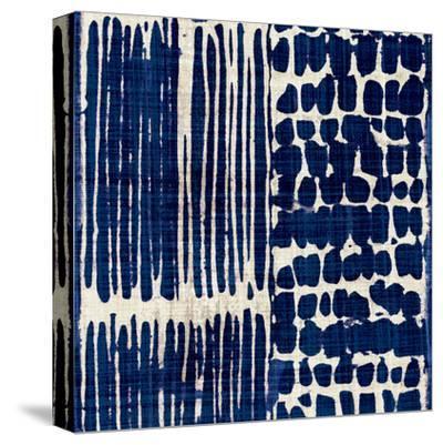 Indigo Batik III-Hugo Wild-Stretched Canvas Print