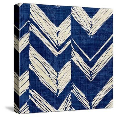 Indigo Batik II-Hugo Wild-Stretched Canvas Print
