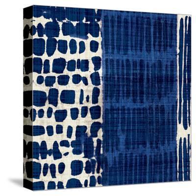 Indigo Batik I-Hugo Wild-Stretched Canvas Print