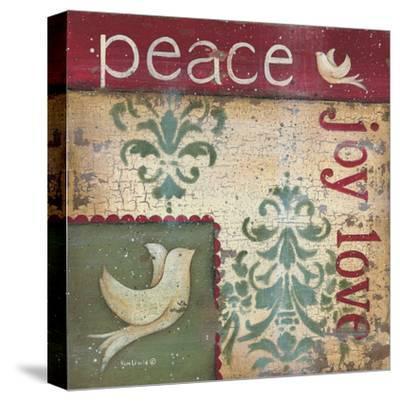 Peace Joy Love-Kim Lewis-Stretched Canvas Print