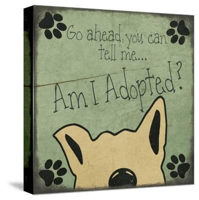 Am I Adopted-Jo Moulton-Stretched Canvas Print