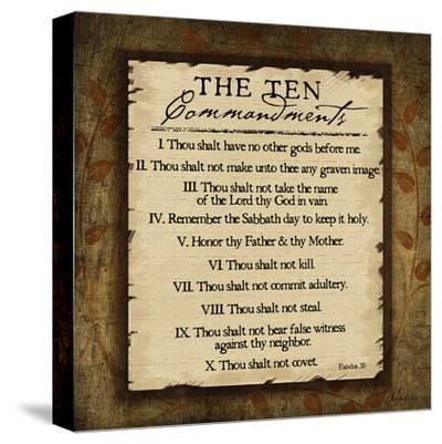 The Ten Commandments-Jennifer Pugh-Stretched Canvas Print