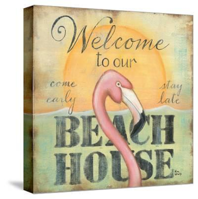 Welcome to Our Beach House-Kim Lewis-Stretched Canvas Print