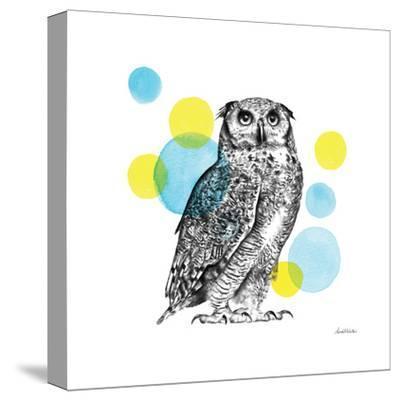 Sketchbook Lodge Owl-Lamai McCartan-Stretched Canvas Print