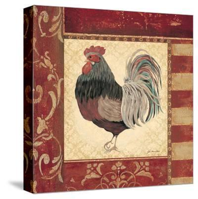 Red Rooster IV-Jo Moulton-Stretched Canvas Print
