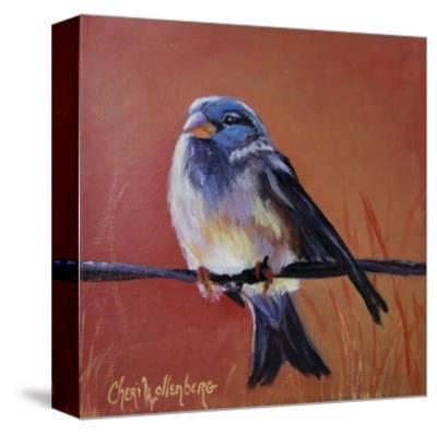 Bird on a Barb-Cheri Wollenberg-Stretched Canvas Print