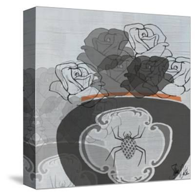 Black Roses I-Shanni Welsh-Stretched Canvas Print