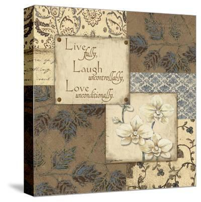 Live Laugh Love-Jo Moulton-Stretched Canvas Print
