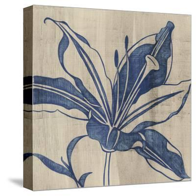 Indigo Lily-Chariklia Zarris-Stretched Canvas Print