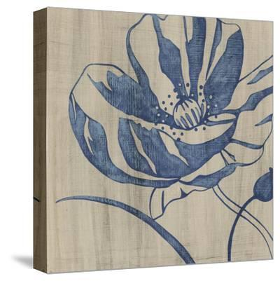 Indigo Poppy-Chariklia Zarris-Stretched Canvas Print