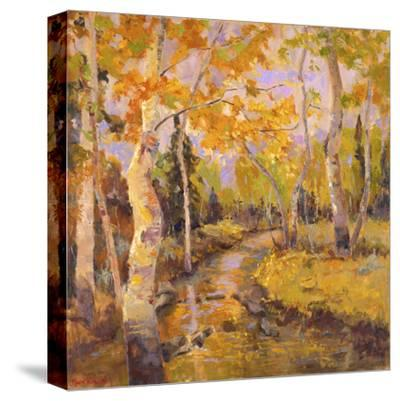 Four Seasons Aspens III-Nanette Oleson-Stretched Canvas Print