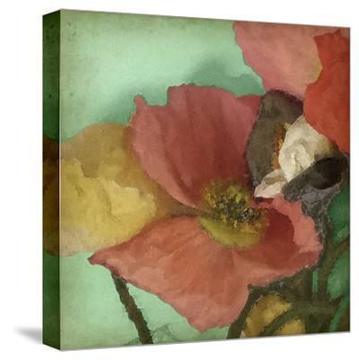 Aquatic Poppies I-Jennifer Goldberger-Stretched Canvas Print