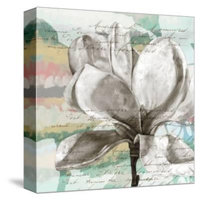 Pastel Magnolias I-Jennifer Goldberger-Stretched Canvas Print