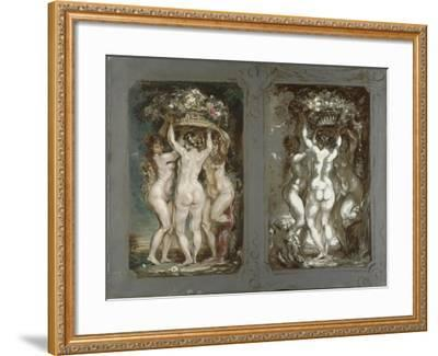 Two Studies for 'The Three Graces'-Louis Anquetin-Framed Giclee Print