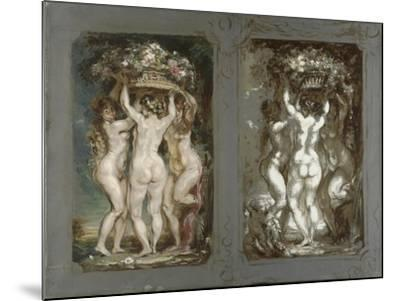 Two Studies for 'The Three Graces'-Louis Anquetin-Mounted Giclee Print