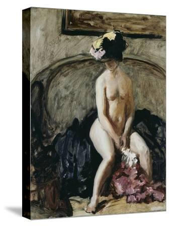 Seated Nude: The Black Hat-Philip Wilson Steer-Stretched Canvas Print