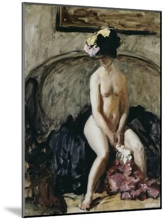 Seated Nude: The Black Hat-Philip Wilson Steer-Mounted Giclee Print