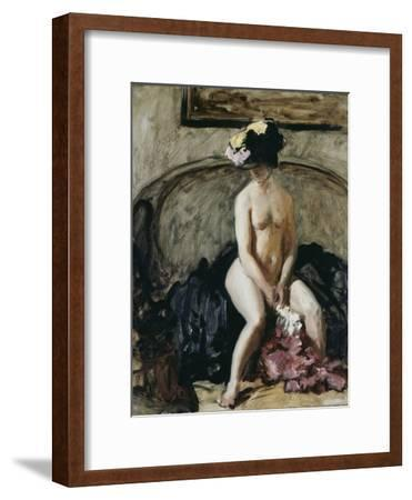 Seated Nude: The Black Hat-Philip Wilson Steer-Framed Giclee Print