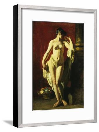 Standing Female Nude-William Etty-Framed Giclee Print