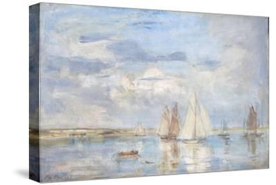 The White Yacht-Philip Wilson Steer-Stretched Canvas Print
