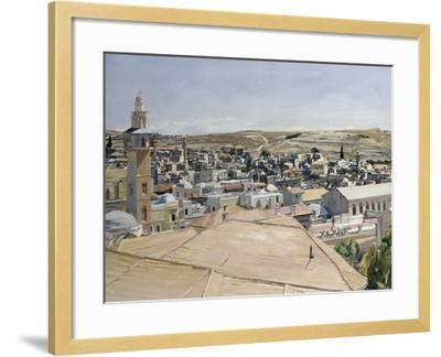 Jerusalem, Looking to Mount Scopus-David Bomberg-Framed Giclee Print