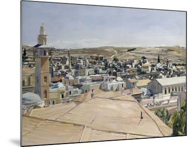 Jerusalem, Looking to Mount Scopus-David Bomberg-Mounted Giclee Print