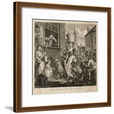 The Enraged Musician-William Hogarth-Framed Giclee Print